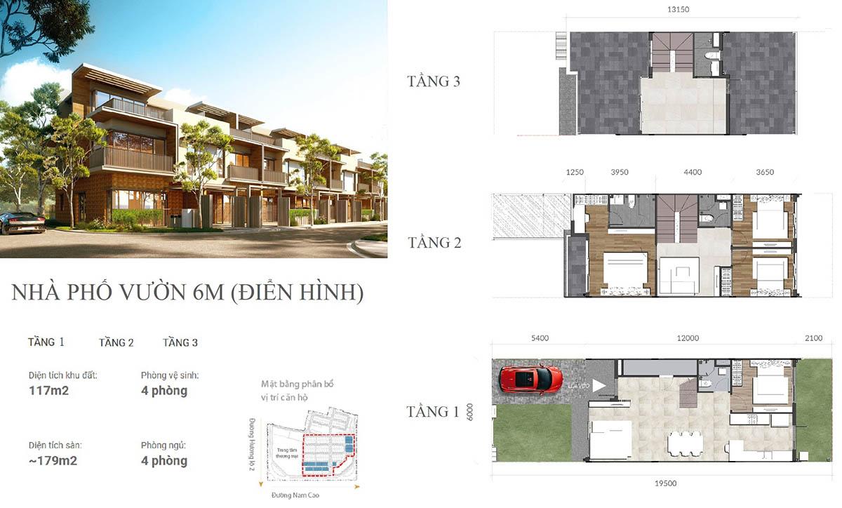 Nhà Phố Izumi City 6m